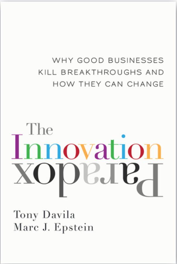 Book: The innovation paradox by Tony Davila. Read it at 24symbols!