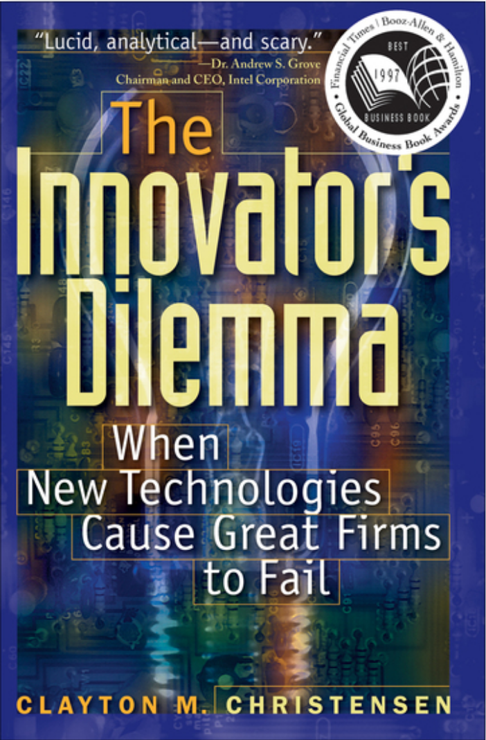 Book: The Innovator's Dilemma, by Clayton Christensen. Read it now at 24symbols!
