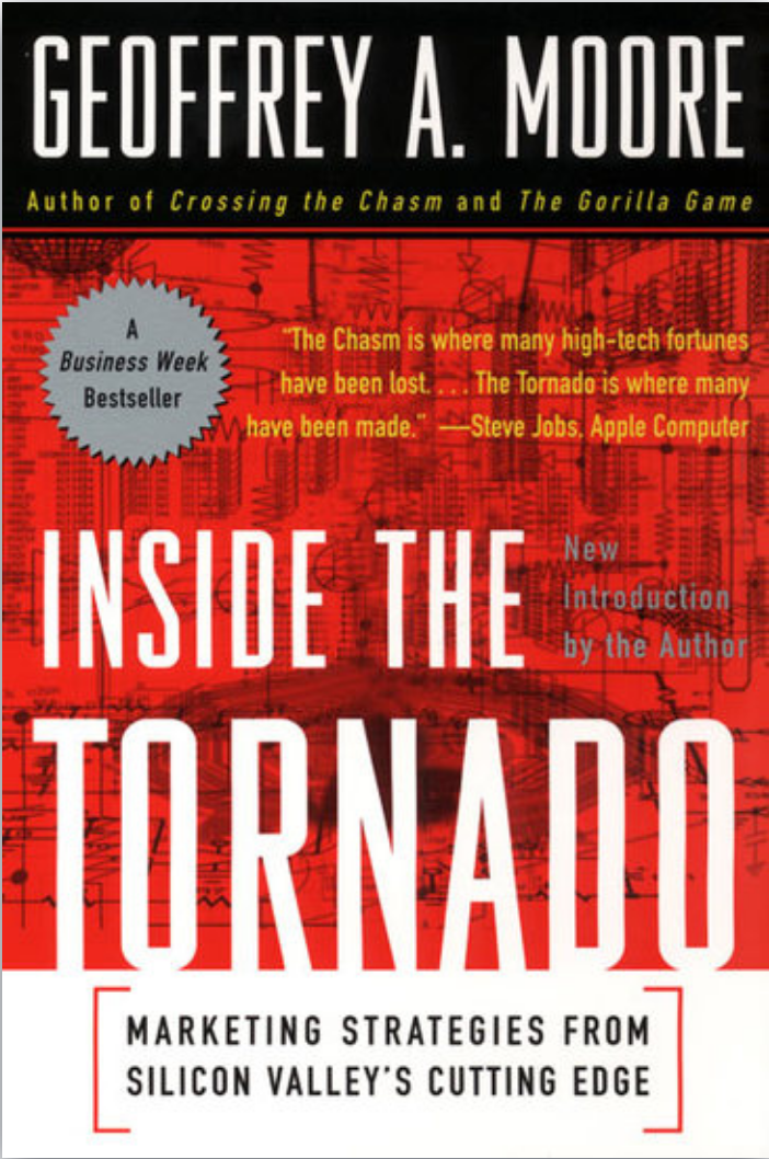 Book: Inside the Tornado, by Geoffrey Moore. Read it at 24symbols!
