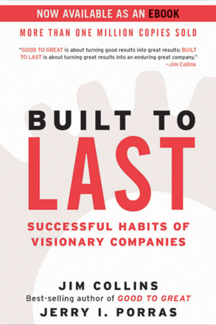 Book: Built to Last, by Jim Collins. Read it at 24symbols!