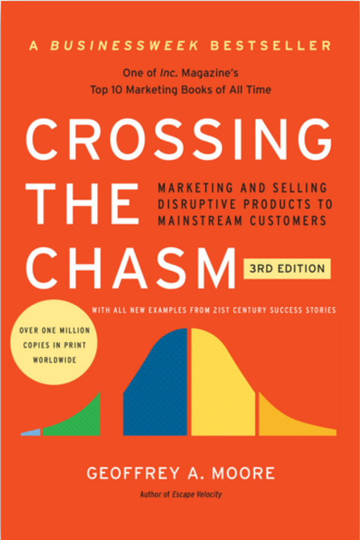 Book: Crossing the Chasm, by Geoffrey Moore. Read it at 24symbols!