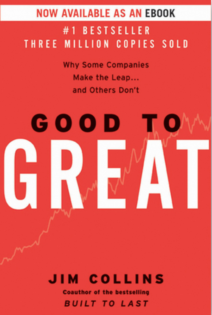 Book: Good to Great, by Jim Collins. Read it at 24symbols.